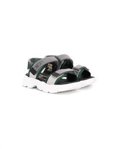 сандалии на липучках с логотипом Nº21 kids