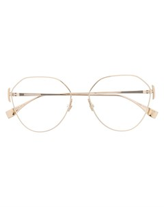 очки в геометричной оправе Fendi eyewear