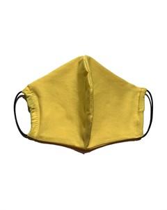 Маска защитная многоразовая с карманом для фильтра желтая 1 шт Face guard