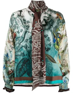 Блузка с принтом и шарфом F.r.s for restless sleepers