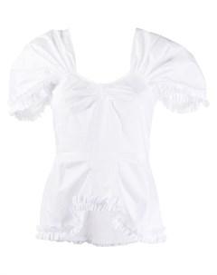 Блузка с короткими рукавами и оборками Molly goddard