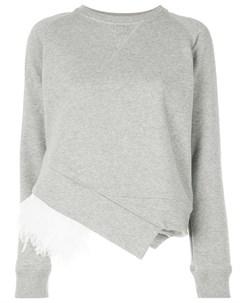 свитер с отделкой перьями No21