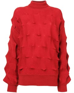 свитер с узором зигзаг и структурированным высоким воротником Issey miyake pre-owned