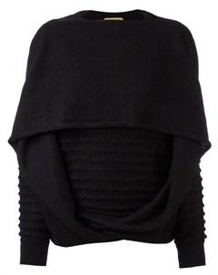 вязаный свитер с драпировкой Issey miyake pre-owned