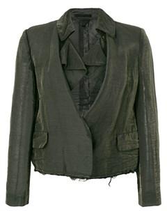 укороченный пиджак с потертой отделкой Comme des garçons pre-owned
