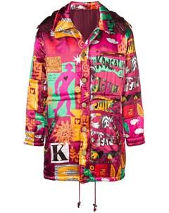 дутое пальто с принтом Kansai yamamoto pre-owned