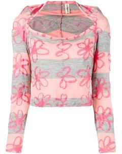 блузка 1996 го года с цветочным узором Comme des garçons pre-owned