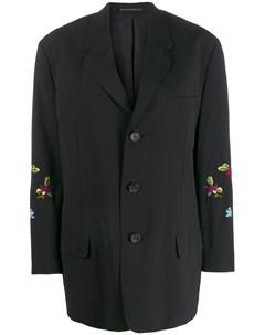 блейзер 1980 х годов с цветочной вышивкой Yohji yamamoto pre-owned