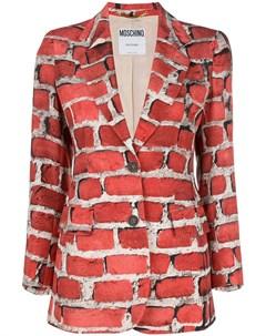 пиджак с принтом Moschino pre-owned