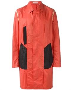 пальто дизайна колор блок Helmut lang pre-owned