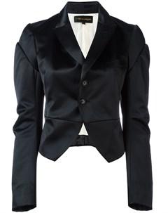 атласный укороченный пиджак Comme des garçons pre-owned