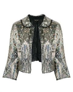 укороченный пиджак с пайетками Comme des garçons pre-owned