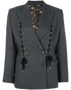 двубортный пиджак со шнуровкой Jean paul gaultier pre-owned
