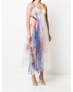 Платье комбинация длины миди с тюлем Quetsche