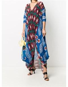 Платье макси с драпировкой и V образным вырезом Afroditi hera