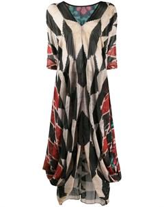 Платье макси с драпировкой и узором Afroditi hera