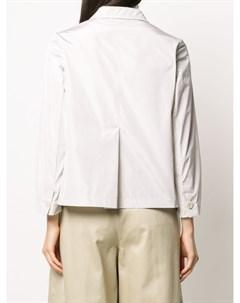укороченный однобортный пиджак Aspesi