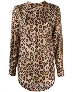 блузка с леопардовым принтом Alberto biani