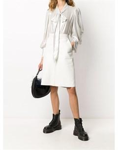 блузка с бантом и эффектом металлик Parlor