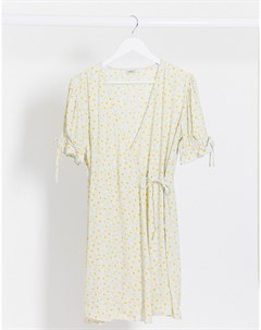 Платье мини с цветочным принтом и запахом Pimkie