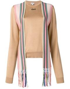 свитер с деталью в виде шарфа Loewe