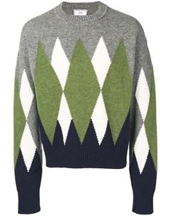 свитер с узором аргайл Ami