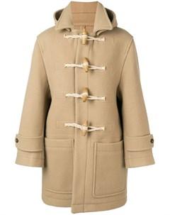 пальто с отделкой из овчины Ami
