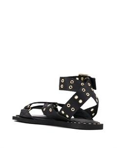 сандалии с ремешками и люверсами Emporio armani
