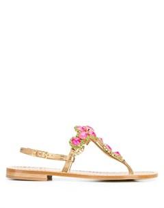 декорированные сандалии с открытым носком Emanuela caruso