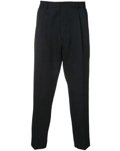 брюки с завышенной талией и складками Ami