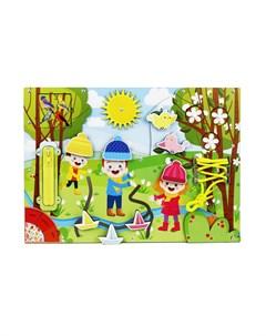 Бизиборд Весна Woodlandtoys