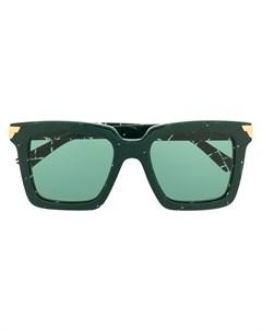Солнцезащитные очки в квадратной оправе Bottega veneta eyewear