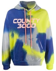 Толстовка County 3000 с капюшоном и принтом тай дай Marcelo burlon county of milan