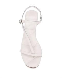 Босоножки на блочном каблуке с ремешками Del carlo