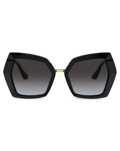 Солнцезащитные очки в массивной оправе с монограммой Dolce & gabbana eyewear