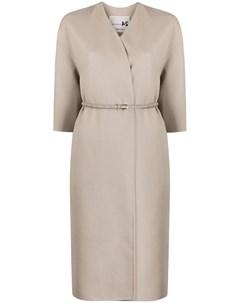 Пальто с укороченными рукавами и поясом Manzoni 24