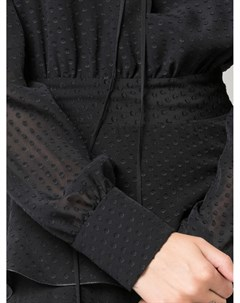 Платье асимметричного кроя в мелкую точку Amiri