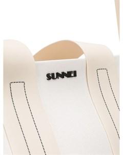сумка тоут с логотипом Sunnei