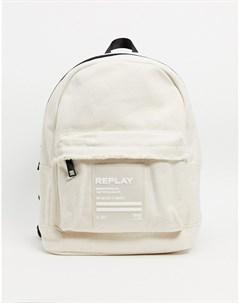 Кремовый рюкзак с отделкой Replay