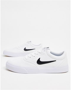 Белые парусиновые кроссовки Charge Nike sb