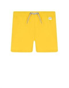 Желтые шорты для купания детские Saint barth