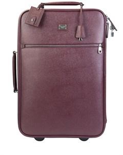 Кожаный чемодан на колесиках Dolce&gabbana