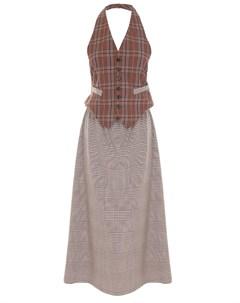 Платье в клетку Mm6