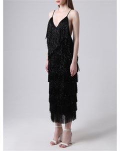 Платье миди с бахромой Walk of shame