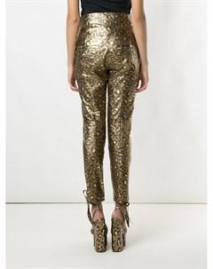 Зауженные брюки Jaguar с эффектом металлик Andrea bogosian