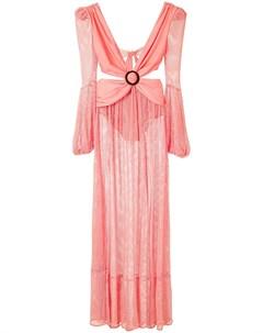 Длинное сетчатое платье Patbo