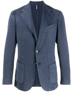 Однобортный пиджак с заостренными лацканами Dell'oglio