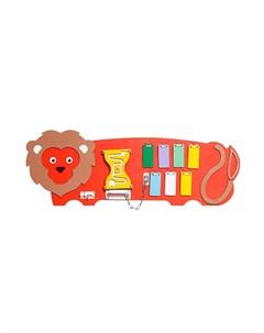 Деревянная игрушка Игры Монтессори Бизиборд Лев Нумикон
