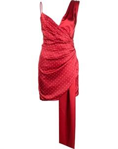 Платье с запахом и узором в горох Misha collection