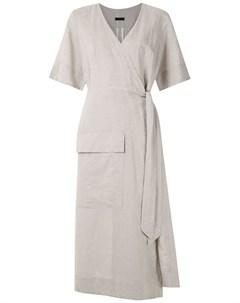 Платье миди Rustic с запахом Osklen